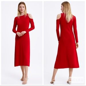 NWT • Zara • Dress with Cut Outs